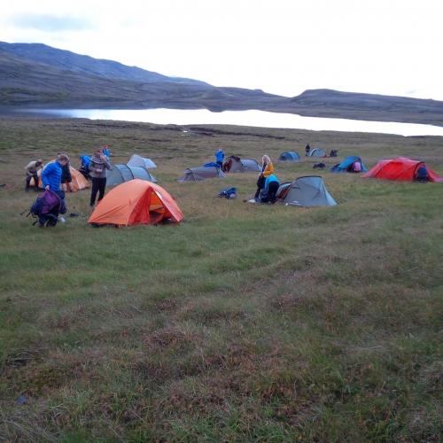 Mynd/Halli - Náttstaðurinn við Krókatjarnir.