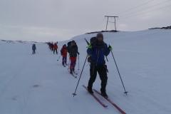 Matti leiddi hópinn ásamt Arnaldi á sunnudaginn að Sigöldu.